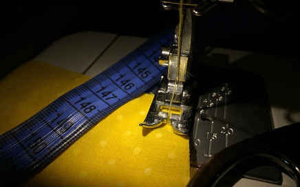 sewing machine and film editing