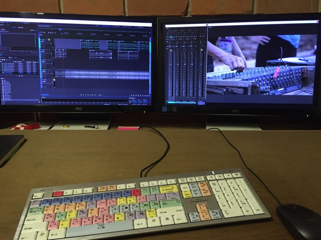 Once picture is locked the Premiere sequence is imported into Audition where the audio tracks can be worked on with reference video. Adobe makes the process a breeze.