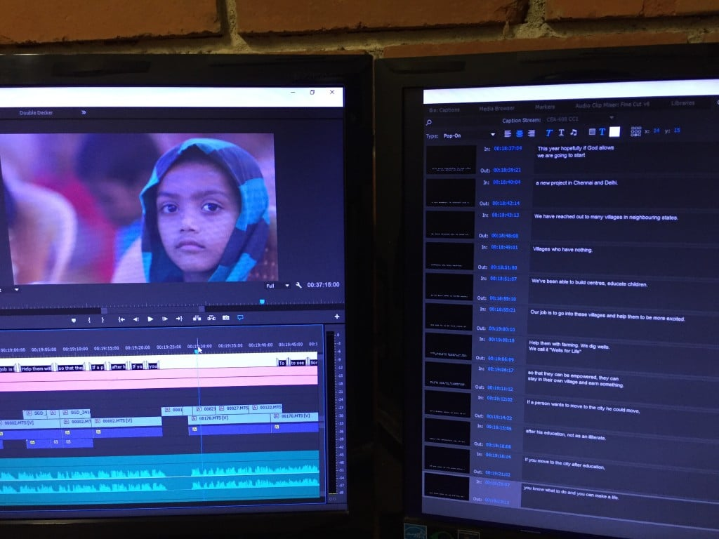 Adding subtitles to my documentary film using Premiere's Closed Captions