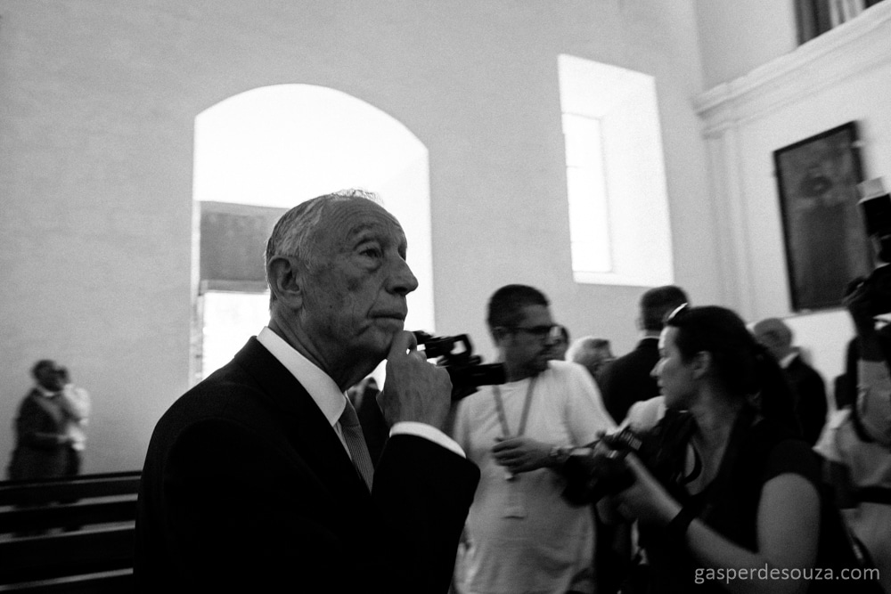 The President of Portugal. Santa Monica church. Old Goa