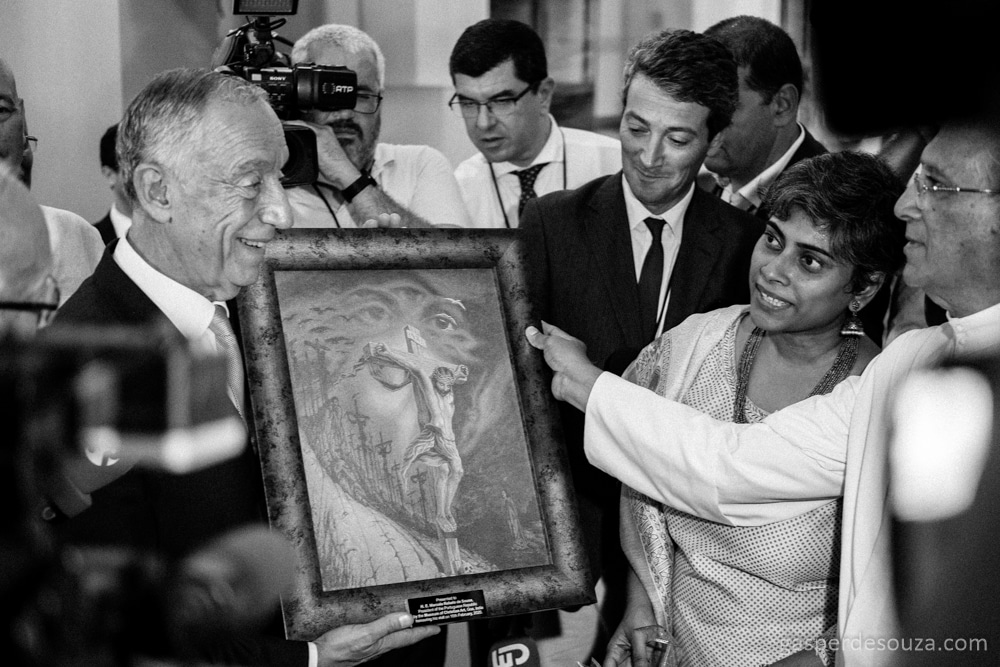 The President of Portugal. Museum of Christian Art. Old Goa